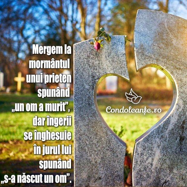 mesaje condoleante citat ingeri mormant prieten