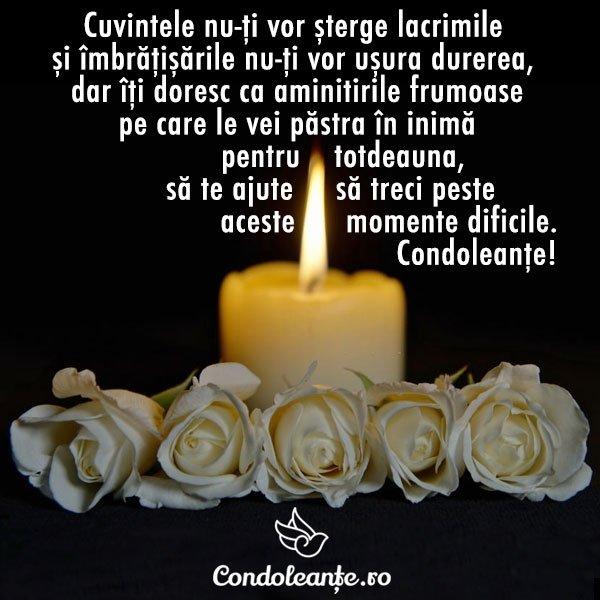 mesaje condoleante cuvinte lacrimi imbratisari