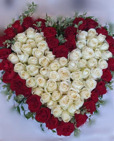coroana funerara inima