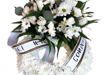 coronita flori inmormantare
