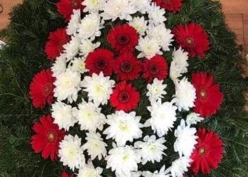 coroana din gerbera mini gerbera si crizantema